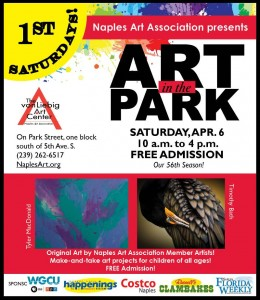 Naples Art in the Park poster