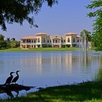Lake and condos at Imperial Golf Estates in Naples, Florida