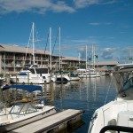 Naples, Florida marina, hotel and restaurants