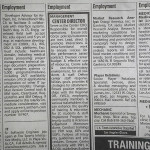 newspapaer classified employment ads
