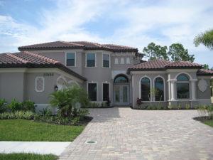 Toll Brothers Aragon Mediterranean-style home exterior Bonita Lakes Florida