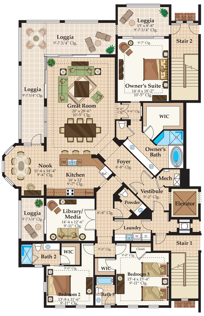 Talis park naples carrara condo floor plan david critzer for Floor plans florida