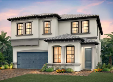 Riverwalk new construction home in Avery Square, a Pulte Homes community in North Naples, Florida.