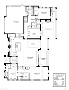Stock Signature Homes Polynesia Model floor plan, Marco Island