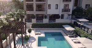 Ronto Naples Square pool area Naples, Florida new construction condos - naplesbonitamarco.com