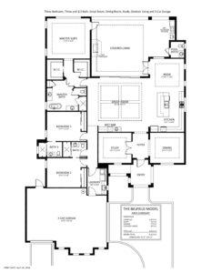 Belfield floor plan at Naples Reserve - Stock Development - naplesbonitamarco.com