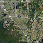 Aerial map of East Naples triangle