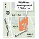 WildBlue Estero Florida community location map